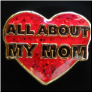 All About My Mom Red Heart  Floating Locket Charm