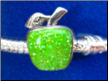 Apple GLtr European style Sterling Silver bead