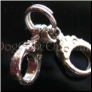 3-D Hand Cuffs  Floating Locket Charm