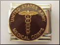 Army Medical Corps Insignia Italian Charm