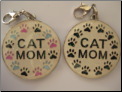 Cat MOM Zipper pull charm XLG!