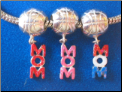 Dangle Basketball Mom GLtr European style Sterling Silver bead