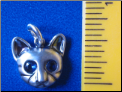 Sterling Silver Tabby Cat Pendant - Charm