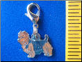 Dog Dangle Charm   Norwich Terrier Dog 2 colors