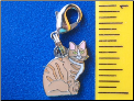 ZP charm   Sitting Tabby Cat   2 colors!