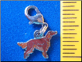 Dog Dangle Charm   Irish Setter Dog