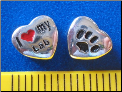 Bead   I love my Lab Dog w/paw    Sterling Silver