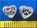 Bead   I love my Tabby Cat w/paw    Sterling Silver