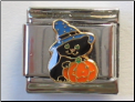 Black Cat & Pumpkin  Italian Charm