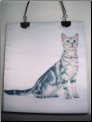 Silver Tabby Cat Purse