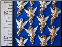 Wholesale lot    6 Angel charms-glitter wings