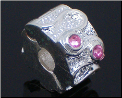 Fancy Pink Clip Stopper European Bead