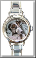 Custom  Round Italian charm watch