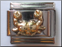 Gold Crab Cancer Zodiac   14kt