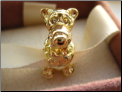 Tiger Funny Gold Plated Slvr Bead