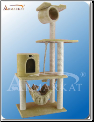 Classic Cat Tree With Hanging Tunnel Beige   62