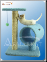 Classic Cat Tree Sky Blue Hanging Tunnel   25