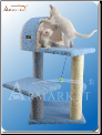 Classic Cat Tree Sky Blue with Arch   29
