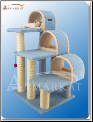 Classic Cat Tree Sky Blue with Arches   38