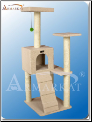 Classic Cat Tree Ivory with house & ramp   53
