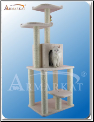 Classic Cat Tree Ivory with House   62