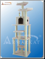 Classic Cat Tree Faux Fleece With Two Perches   78
