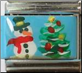 Snowman & Christmas Tree    Hand Painted!