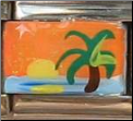 Caribbean Sunset   orange   Hand Painted