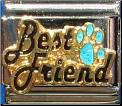 Best Friend Blue Paw Italian charm