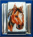 Handpainted Brown quarter horse   necklace style