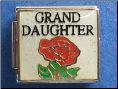 Granddaughter w/Rose 9 mm Italian charm