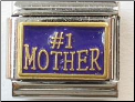 #1 Mother  Periwinkle Blue Italian charm