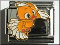 Chick in flight Orange -  9 mm Italian charm