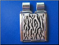 Animal Print Taupe/Silver MEGA   hand painted!