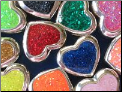Custom color Heart European style Sterling Silver bead