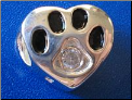 Bead   Sterling Dog Paw w/April birthstone