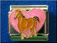 Love Brown Horses   Pink Glitter