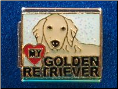 Love my Golden Retriever   white