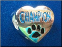 Bead   Champion w/paw   Blue