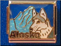 Alaska with Wolf   dark blue