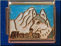 Alaska with Wolf   light blue