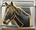 Black Stallion Horse Head   Italian Charm