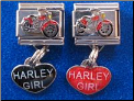 Harley Girl Dangles   two colors!