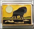 Africa Lion Silhouette -  yellow