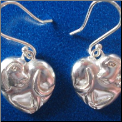 Puppy Love Silver Earrings
