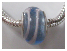 Sky Stripes Glass Bead