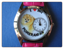 I Love my Pomeranian Dog watch