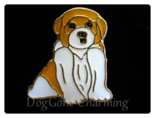 St. Bernard Puppy Sitting Floating Locket Charm