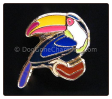 Toucan Floating Locket Charm
