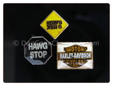 Harley Hawg  Set of 3 Floating Locket Charm